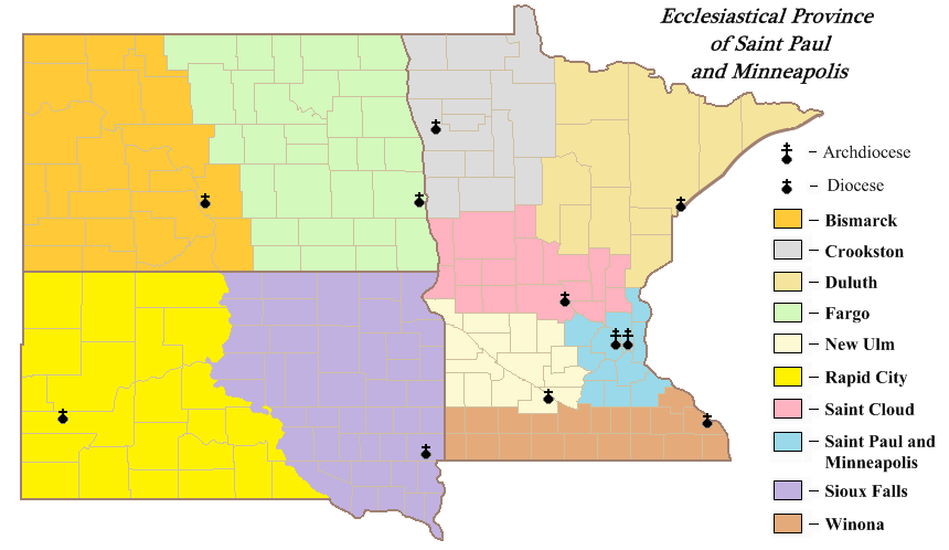 Important Links Diocese Of New Ulm - Us catholic diocese map