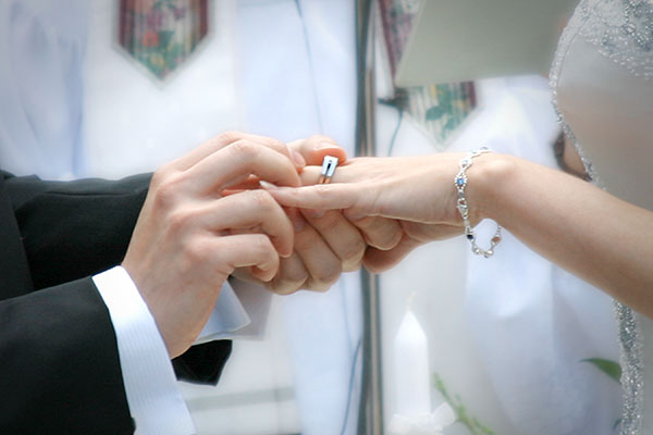 Fairy New Wedding Rings Exchange Of Vows