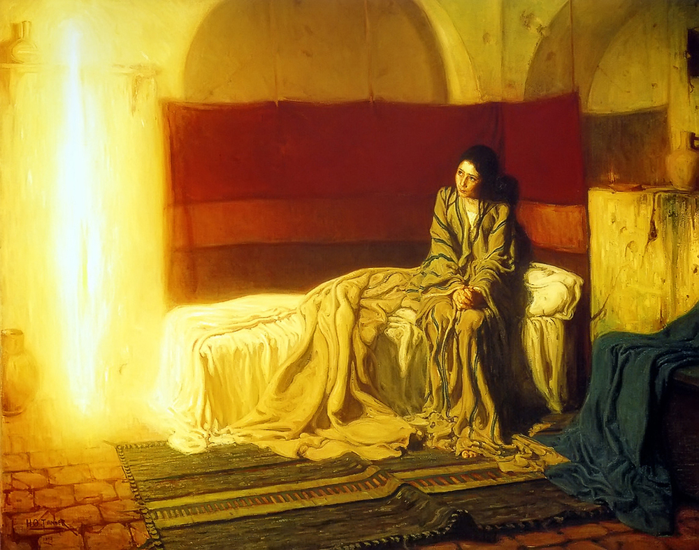 """The Annunciation"" by Henry Ossawa Tanner"