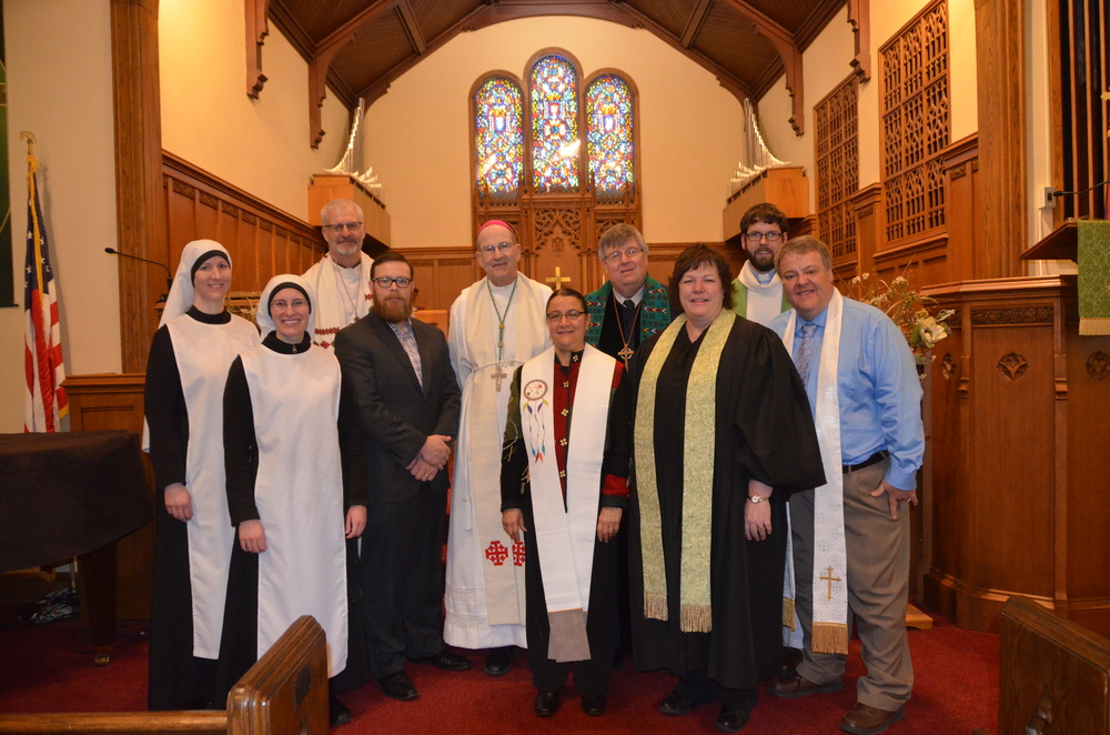 Ecumenical representatives at the 2016 Prayer Service for Christian Unity at First Presbyterian Church in Redwood Falls.