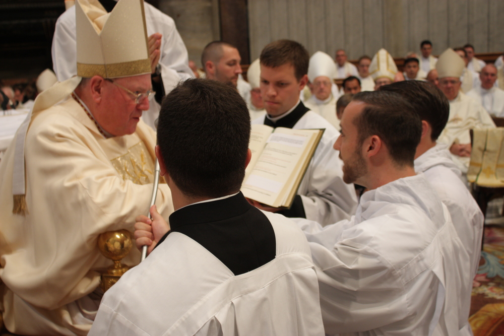 Ordination of Garrett Ahlers to the diaconate in Rome last Fall. (Photo courtesy of the NAC)