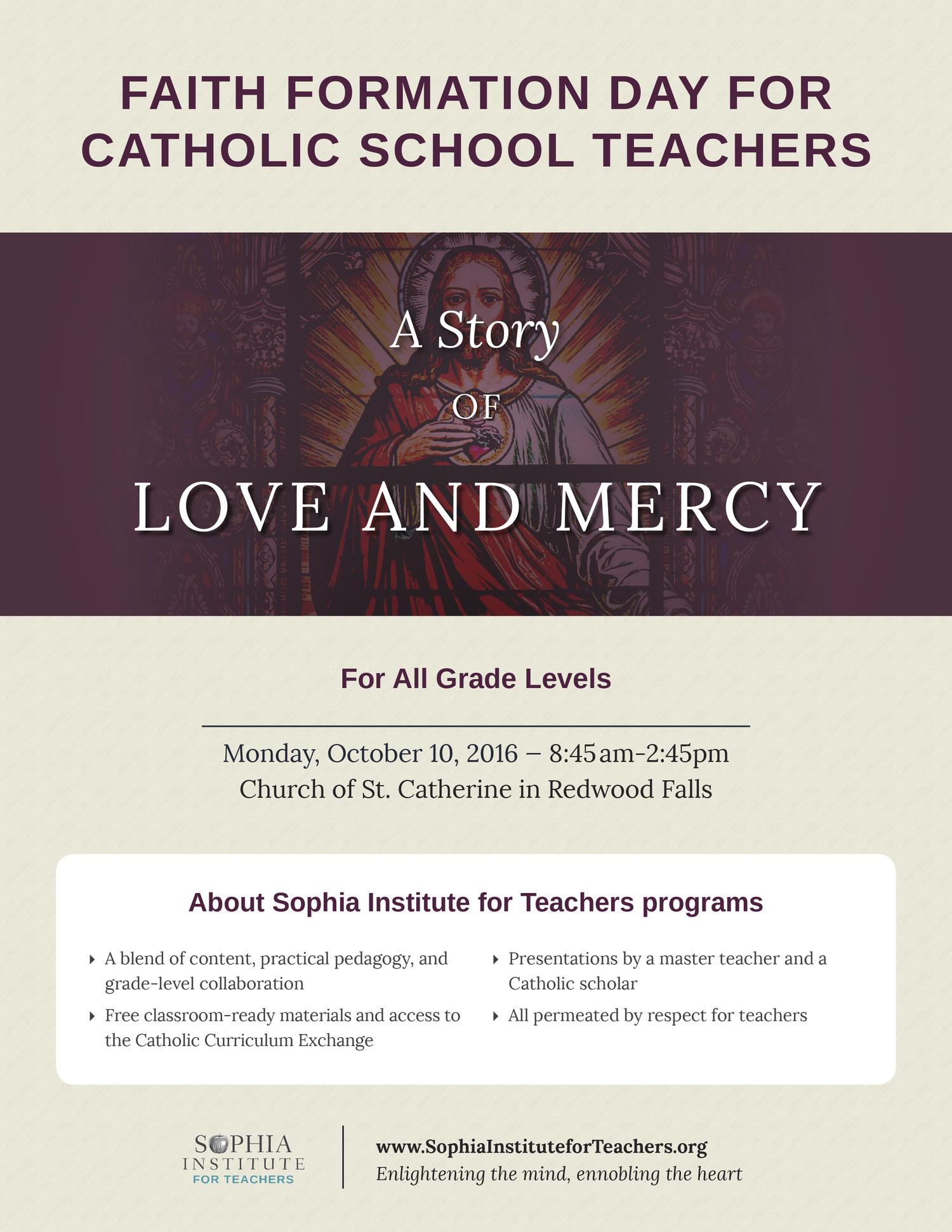 Faith Formation Day for Catholic School Teachers — Diocese of New Ulm