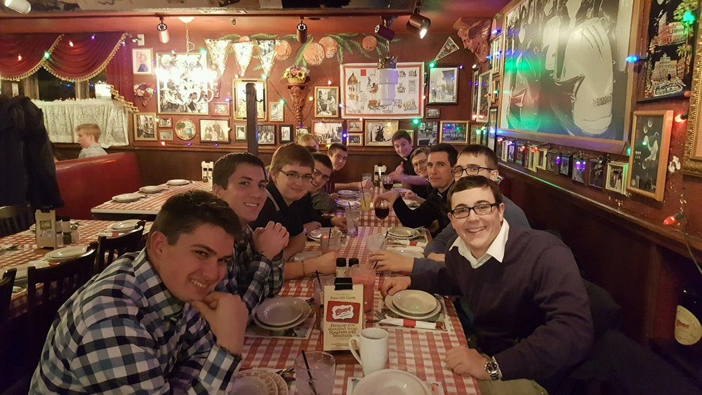 Dinner at Buca di Beppo - great food and much laughter!