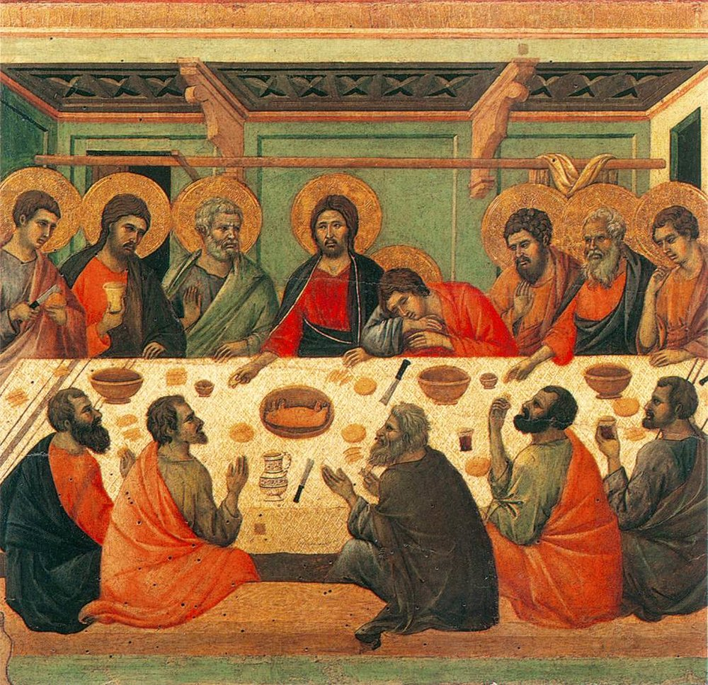 Last Supper  by Duccio di Buoninsegna