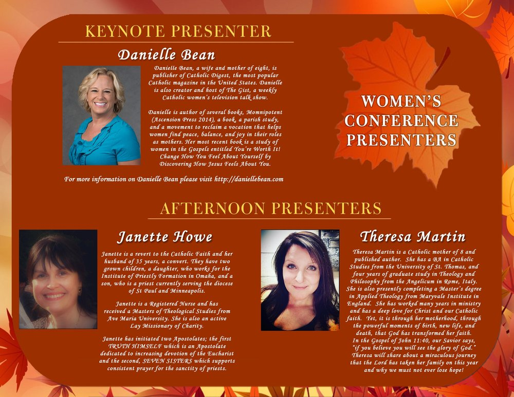 Presenters for Womens Conference.jpg