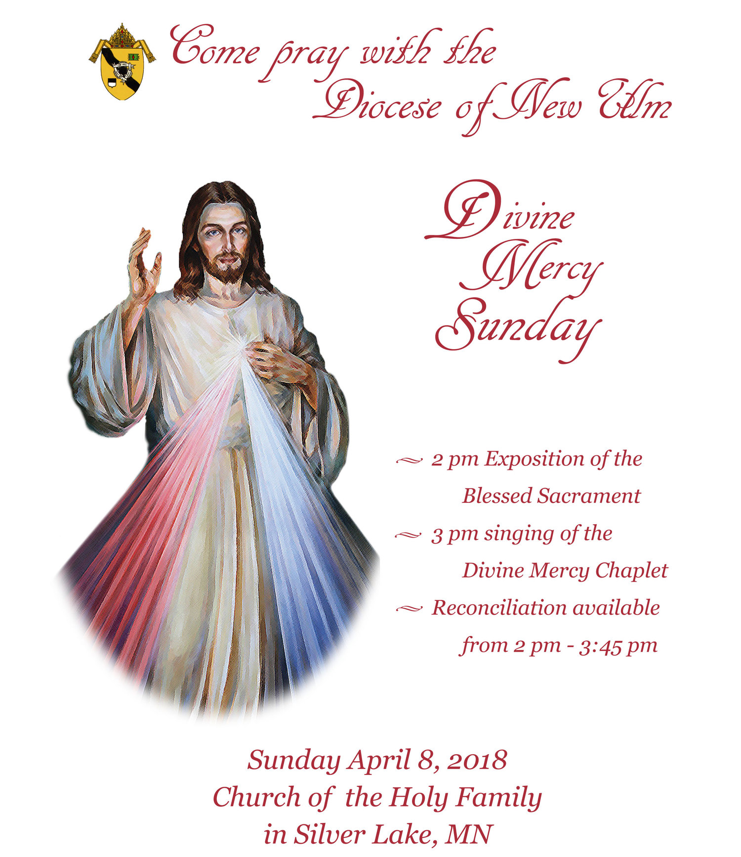 divine mercy sunday holy family silver lake diocese of new ulm
