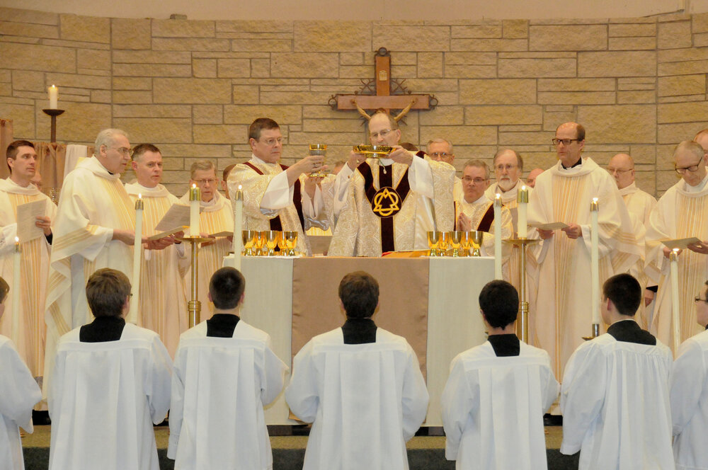 Fewer men are entering the priesthood now than in the past. In 1957, there were 98 priests in the Diocese of New Ulm, now there are 37.