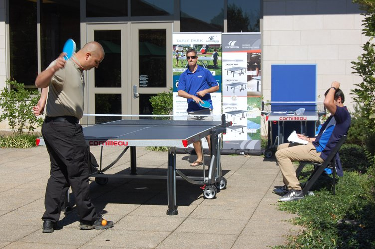 Cornilleau challenged attendees to participate in a Ping Pong tournament.