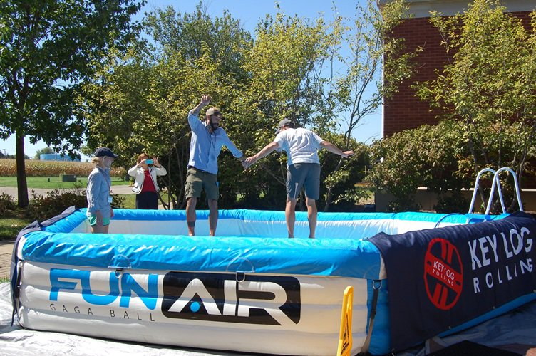 A single-elimination tournament brought attendees out into the sunshine to try to win a GoPro camera.