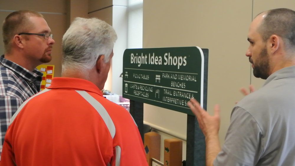 At Bright Idea Shops, the name of the game was signage and wayfinding.