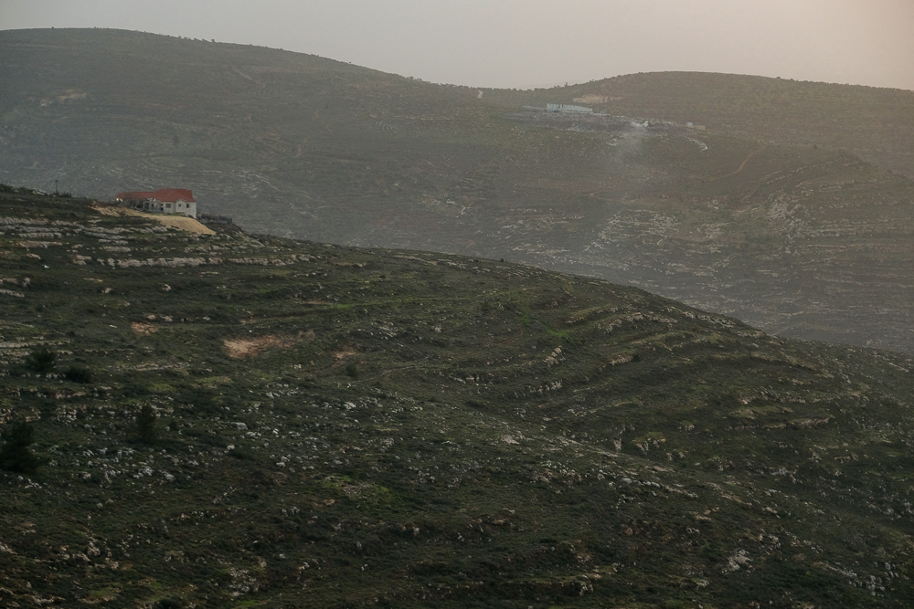The rural views of the Ha' Shomron Mountains.