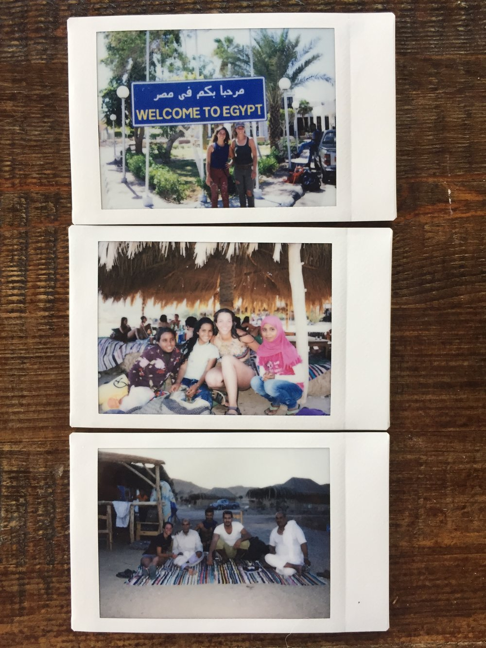 Instax that I photographed and passed out to the locals.