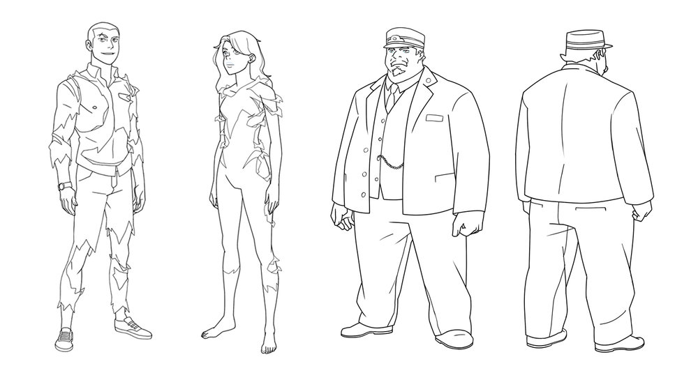 Job Responsibilities included: Cleaning senior designers sketch work, Character redresses and costume edits.