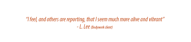 Testimonial for Albert Stern bodywork