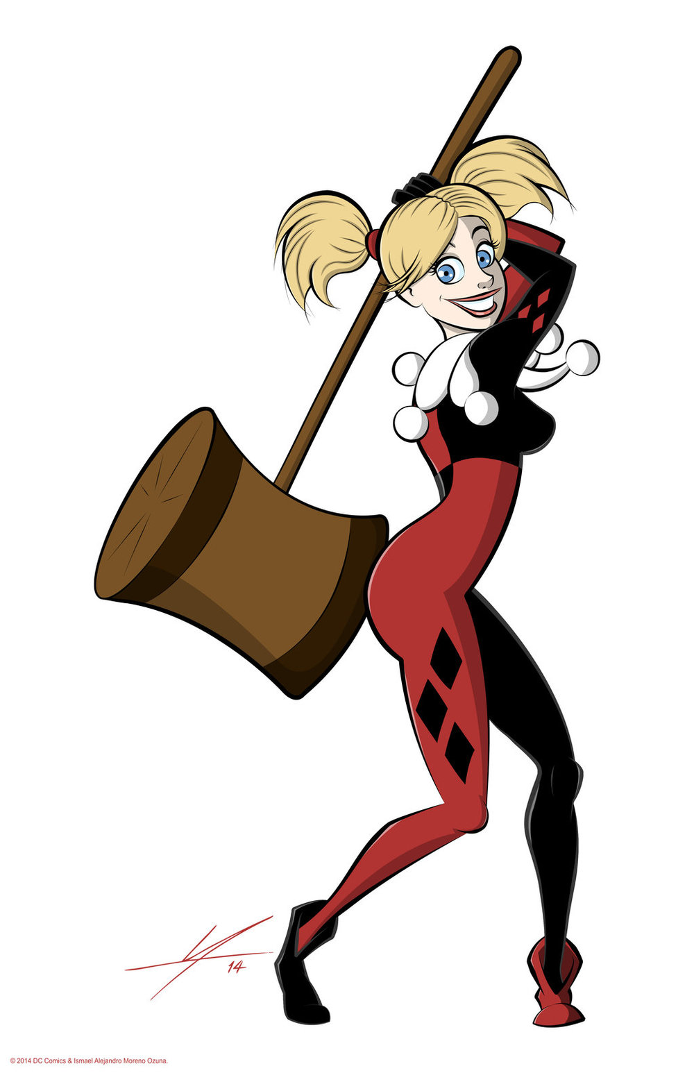 Harley Quinn Fan Art by IAMO