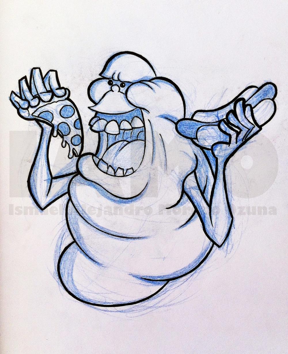 IAMO slimer ghostbusters sketch