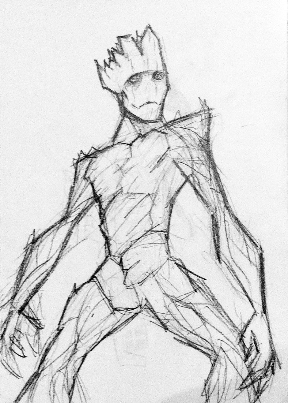 groot-guardians-of-the-galaxy-pencil-sketch-iamo