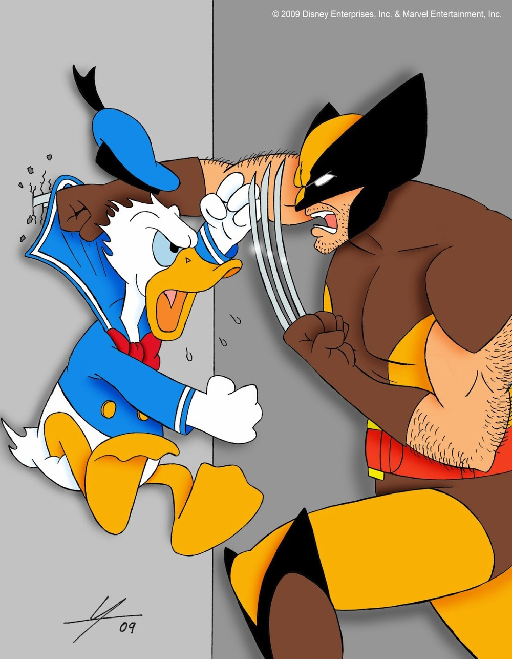 Wolverine Donald Duck Marvel Disney IAMO