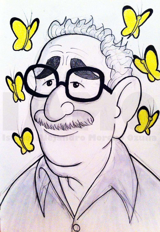 Gabriel Garcia Marquez Sketch by IAMO