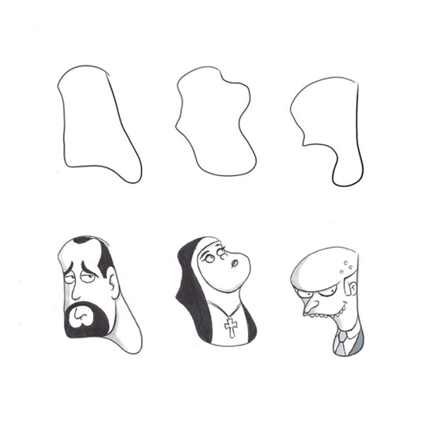 random-shape-doodle-mister-burns-simpsons-catholic-nun-iamo