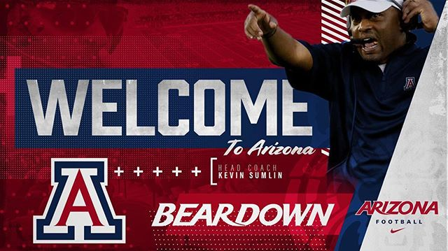 We are excited to introduce Coach Kevin Sumlin as the new Head Coach of @arizonafootball! Welcome to the Wildcat family, Coach! #YESSIR #BearDown
