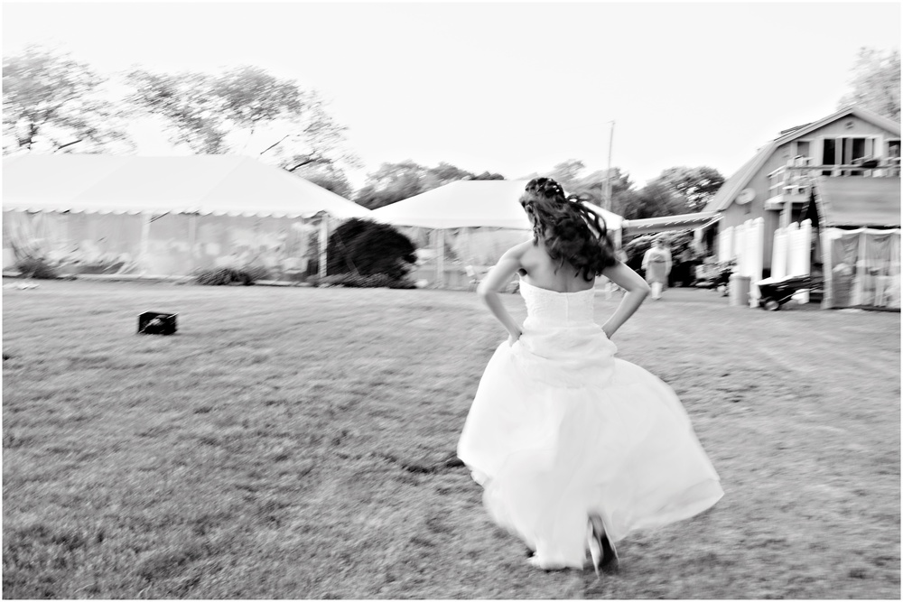 "Amanda said she felt like running in her wedding dress. I said ""Go for it!"""