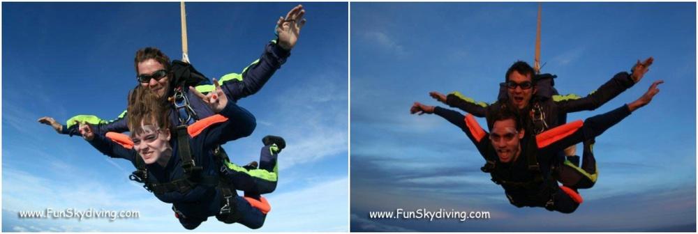 Adam and myself sky diving in 2007.