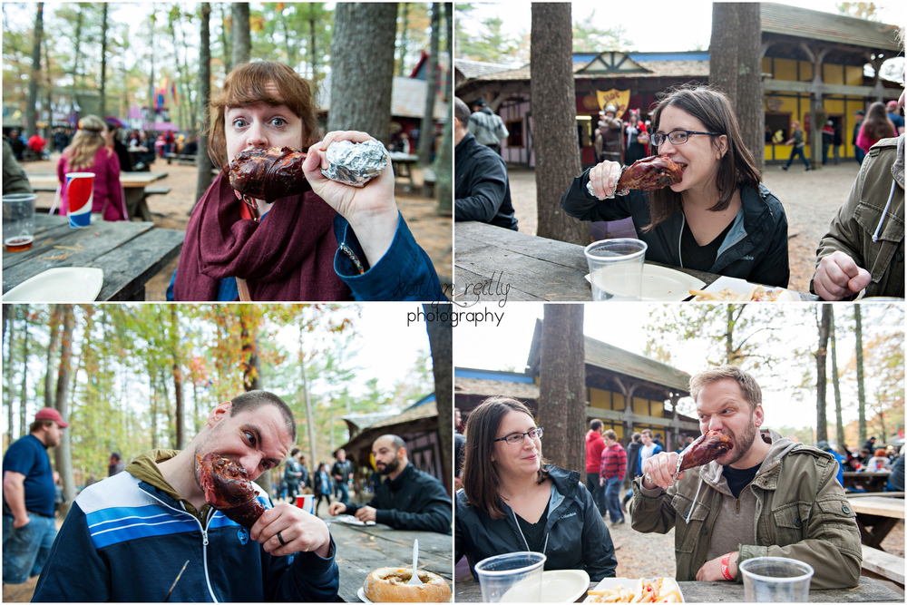 Chomping down on a giant turkey leg is just a staple part of KRF- if you're a meat eater that is! They also have some mead!