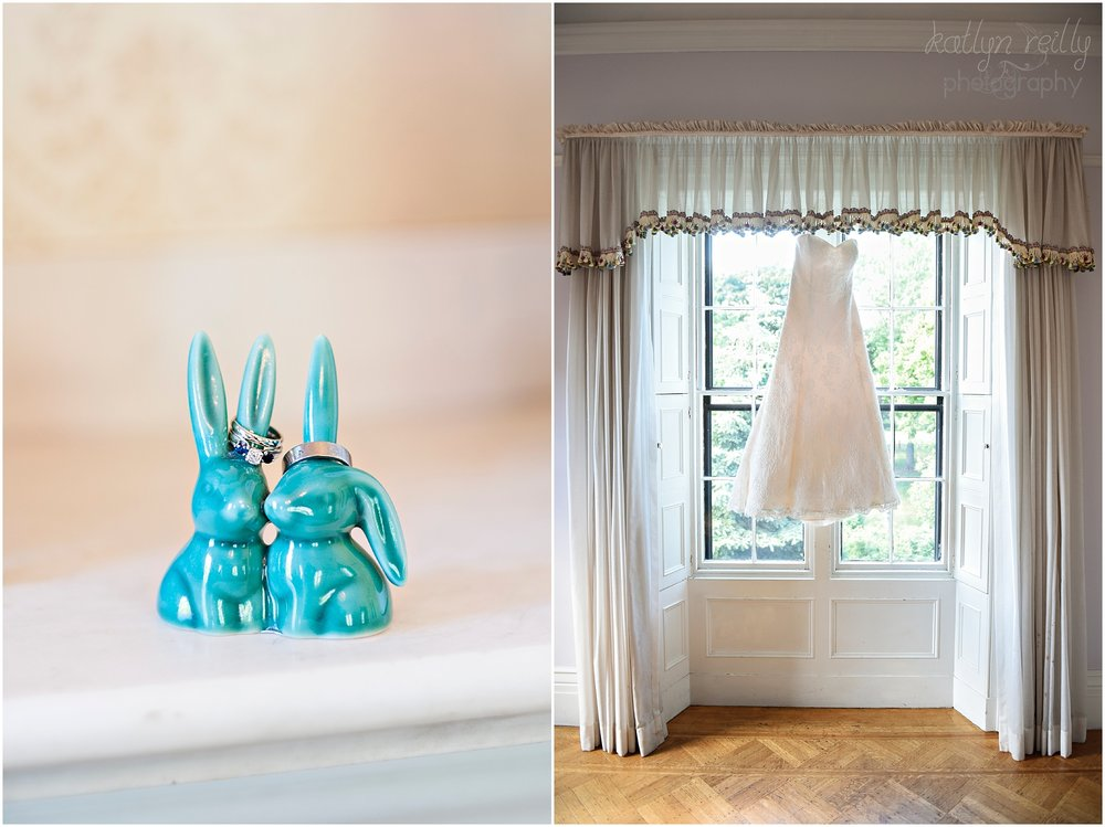 "The bunny ring holders were a birthday gift from one of Adrianne's best friends and bridesmaid's,  Kawana. Adrianne and Tristan have a beautiful lop eared bun named Harold, so having ""his presence"" there on their day was wonderful!"
