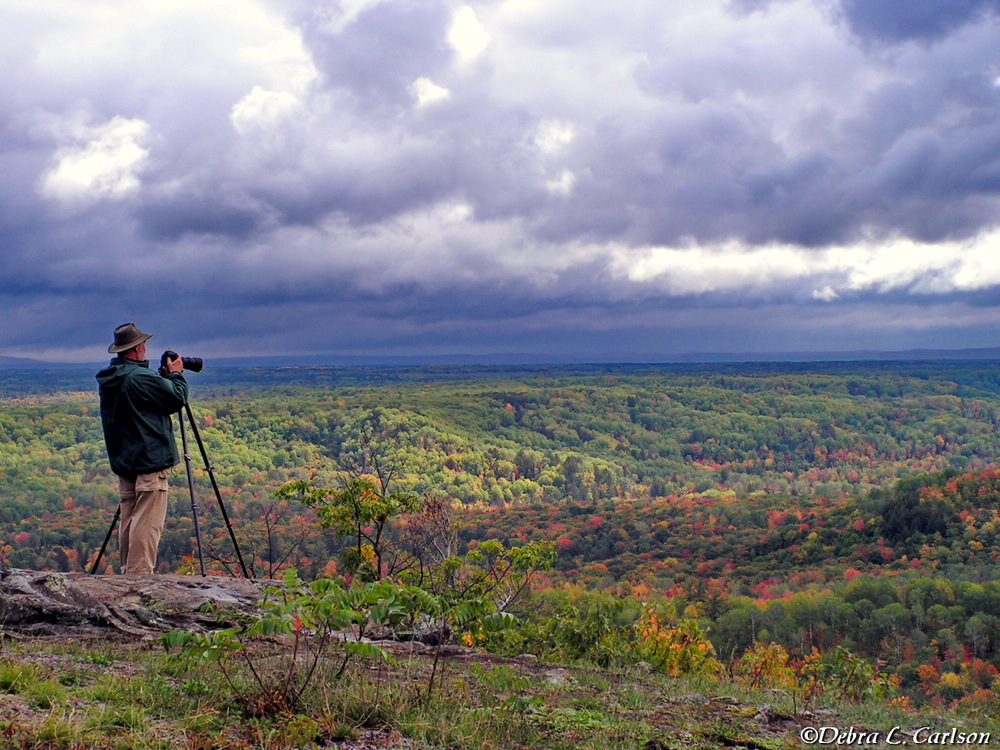 Mark-photographing-from-Brockway-Mountain;©Debra-L.-Carlson.JPG