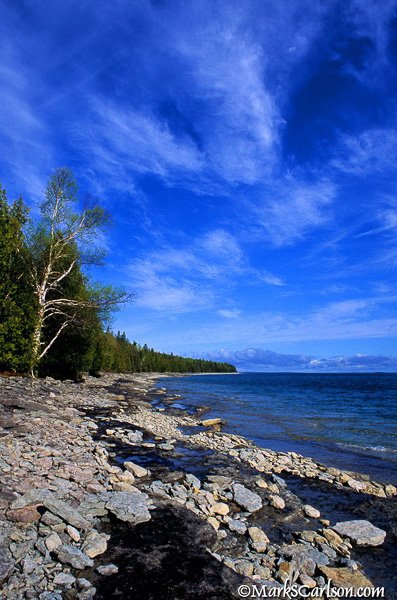 North shore of Drummond Island; ©markscarlson.com