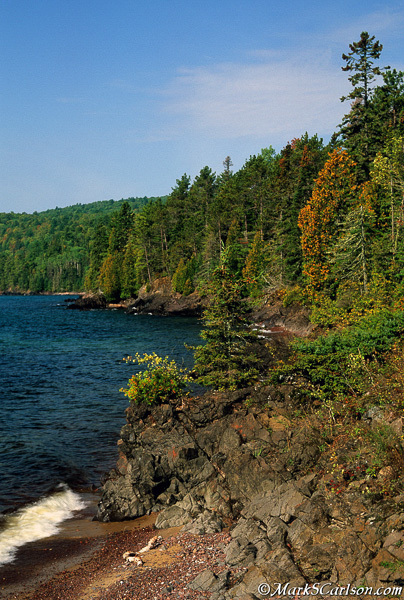 Coastline of Bette Grise Bay, Keweenaw Peninsula, MI; ©markscarlson.com