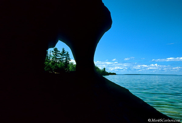 Lake Superior shoreline from cave; ©markscarlson.com