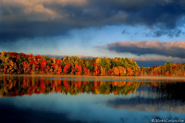 Moccasin Lake, autumn; ©markscarlson.com