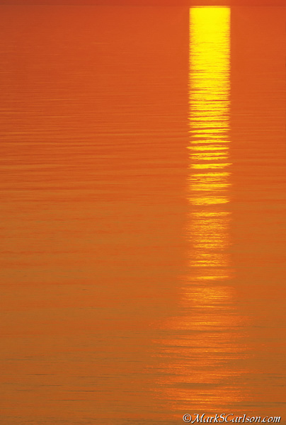 Sunset reflection in Lake Superior; ©markscarlson.com