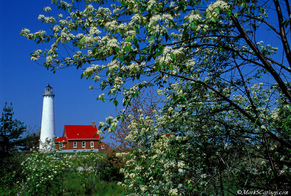 Tawas Lighthouse, spring; ©markscarlson.com