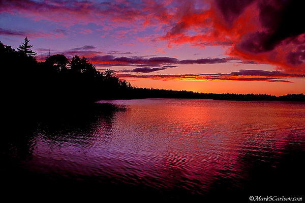 Lake Stella, twilight storm clouds; ©markscarlson.com