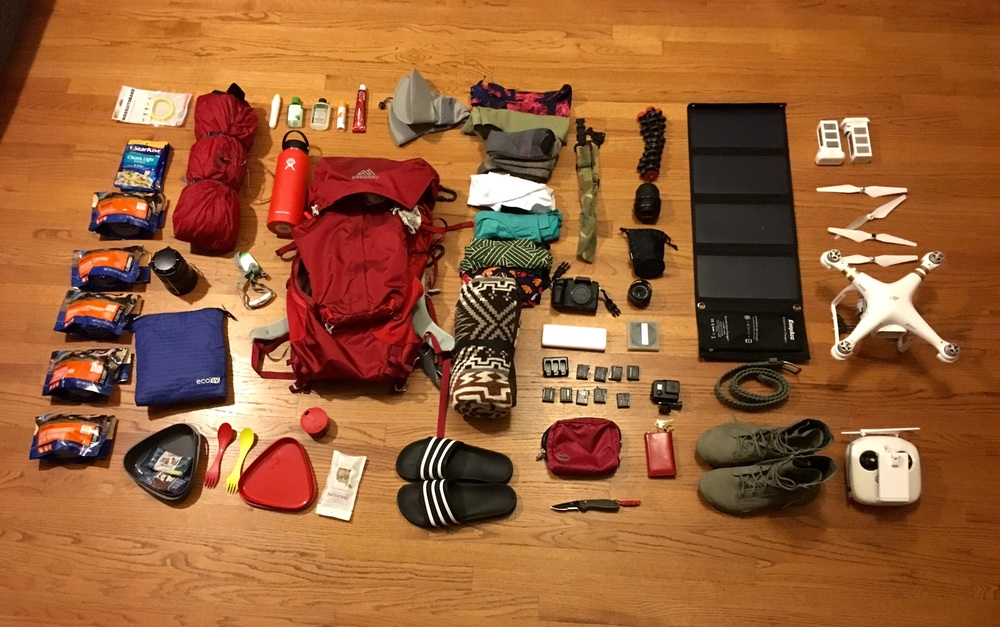 Backpacking Havasupai Arizona. Here is all the gear I'm bringing along.