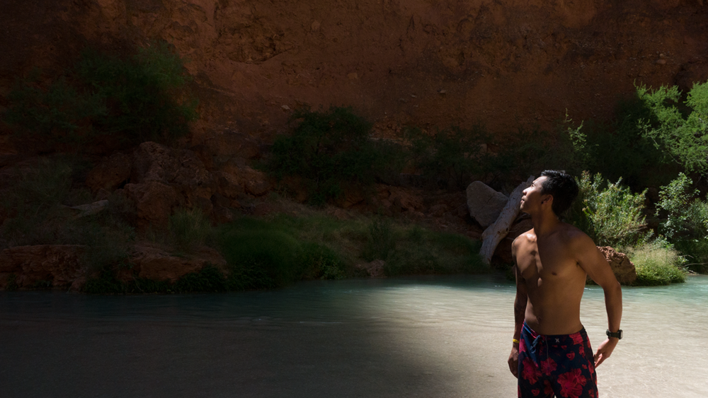 Hoang M Nguyen Looking over the Canyons at Havasuapi Arizona. Copyright Hobo.Life