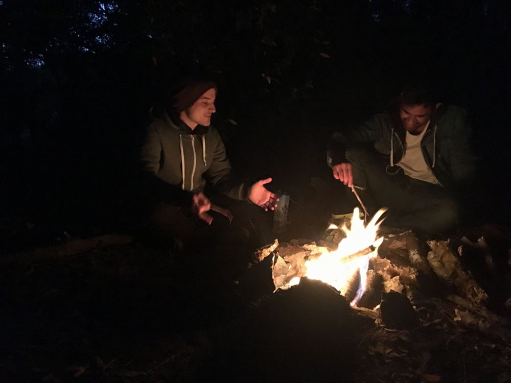 The campfire of our trip true hobos