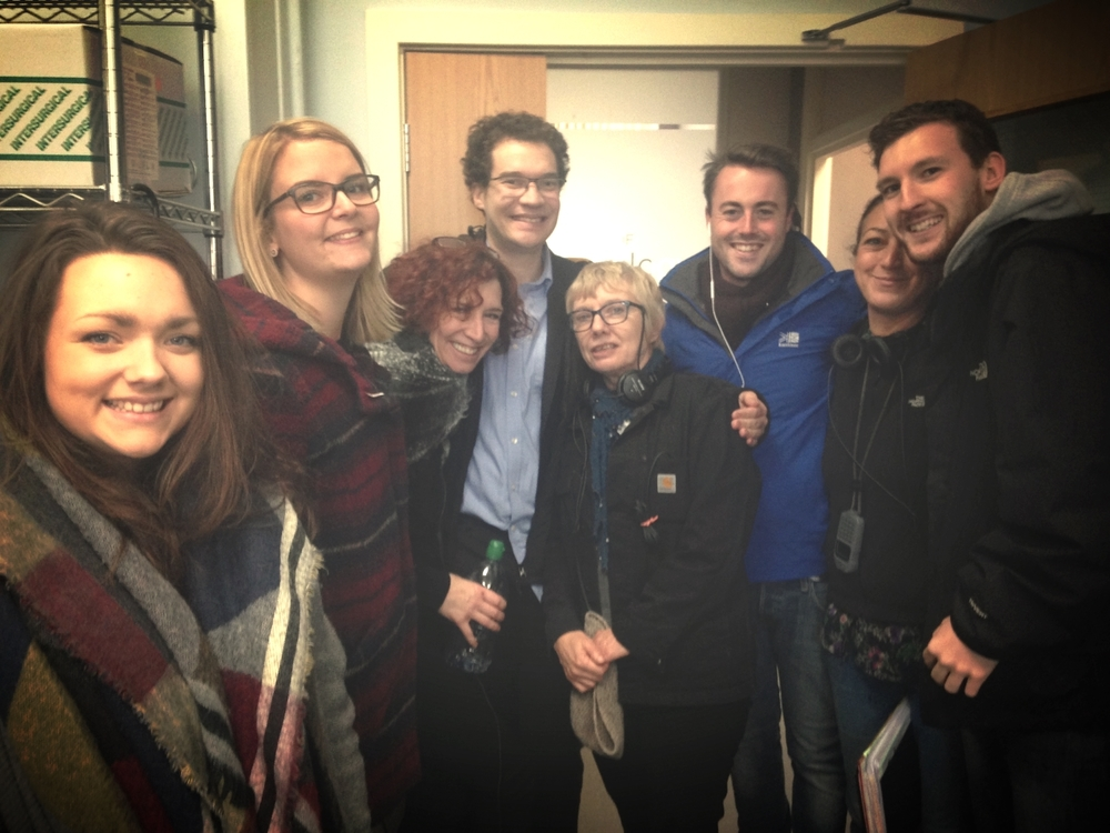 Jules with his Holby City cast and crew