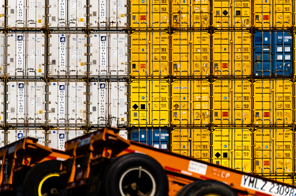 Wall of Containers