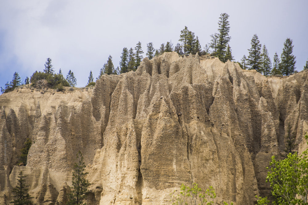 Hoodoos near Fairmont Hot Springs, BC, Canada.