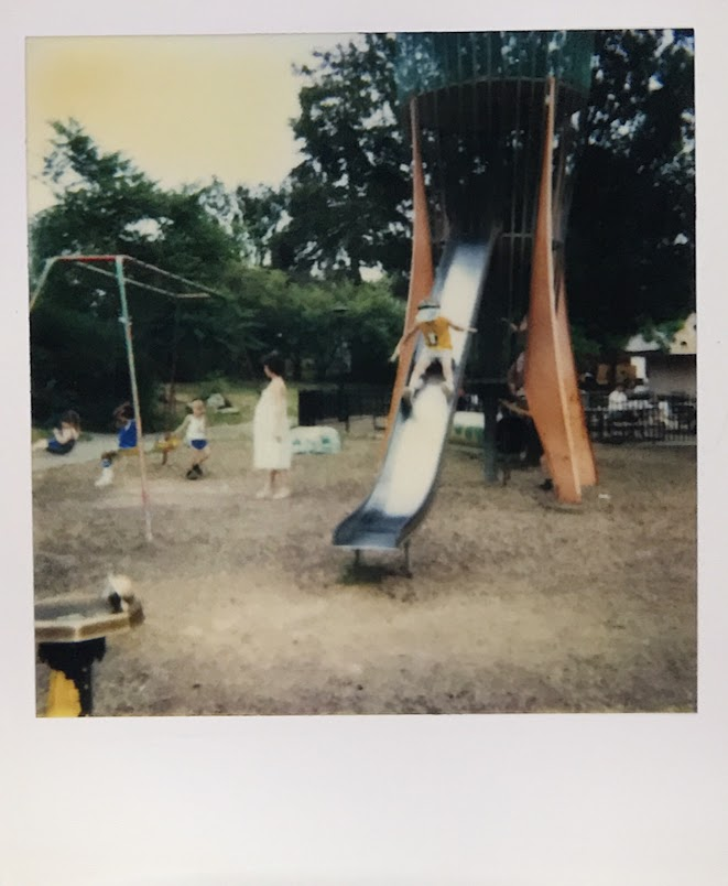 I loved going to the playground with my mom.