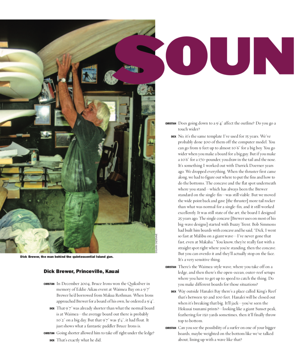 Soundings V (The Surfers Journal)  Click here to read.