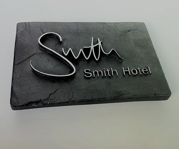 simulated slate plaque