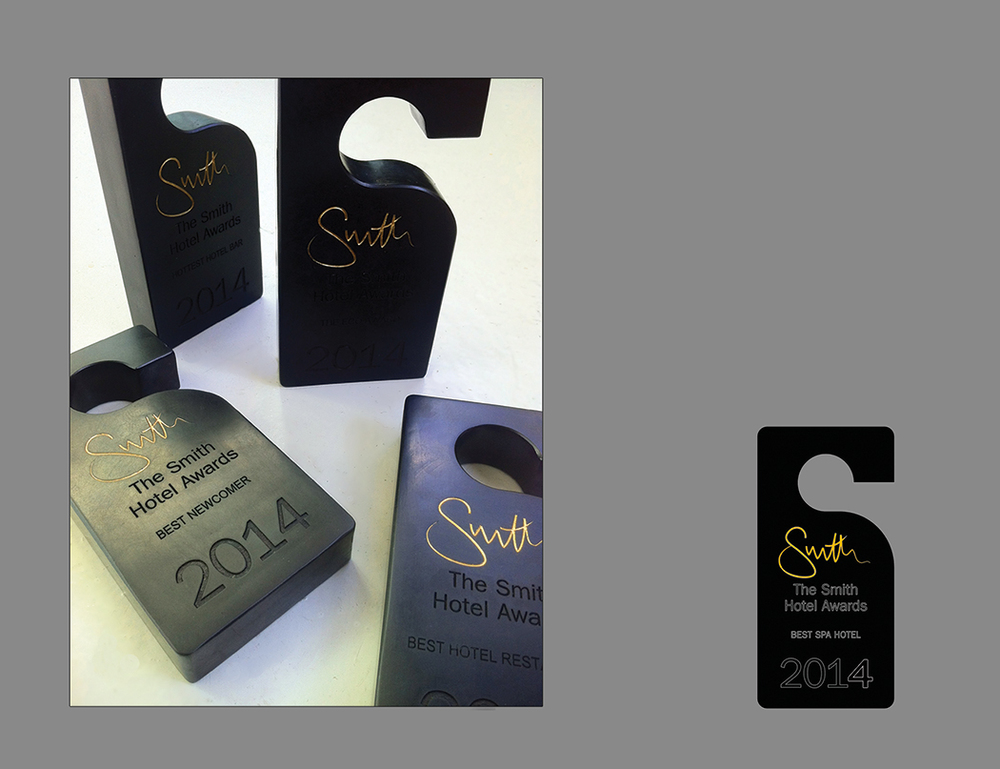 Smith best hotel annual award trophies.