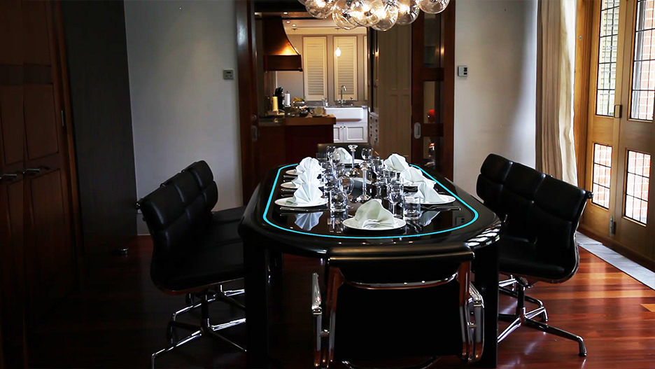 At home with the poker table