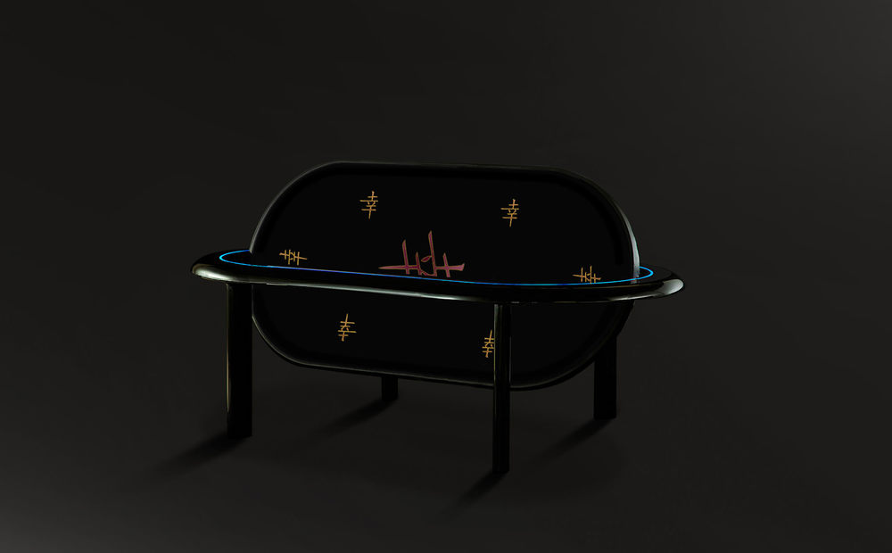 6 seater poker dining table
