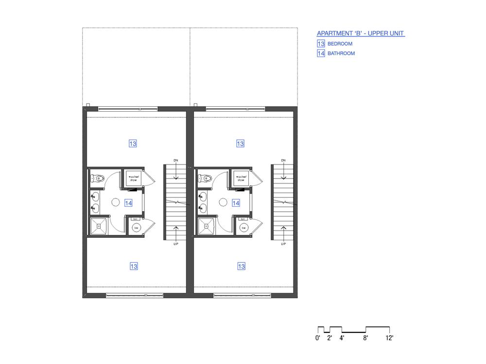 3rd Floor Plan - Unit 'B'
